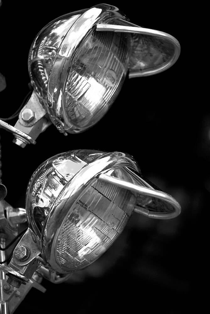 B&W Motorcycle Lamps by Robert Goulet
