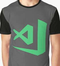 visual studio code  - green Graphic T-Shirt