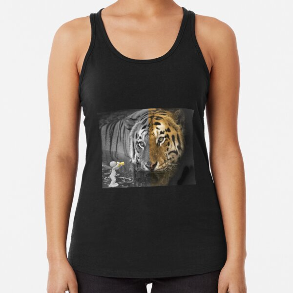 Tiger wildlife photography by amateur photographer Racerback Tank Top