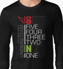 Motorcycle Shift Gear 1N23456 Long Sleeve T-Shirt