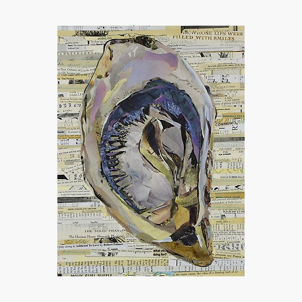 Oyster Collage by C.E. White Photographic Print