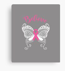 Breast Cancer Believe  Canvas Print