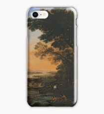 Pastoral Landscape with the Flight into Egypt 1663 by Claude Lorraine iPhone Case/Skin