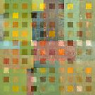 Squares on Squares - Green by Michelle Calkins