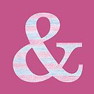 Letter & Ampersand Blue And Pink Dots And Dashes Monogram Initial by theartofvikki