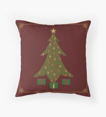 Quilted Christmas Floor Pillow