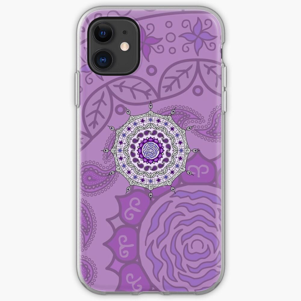 Mehndi Fantasy Silver iPhone Case & Cover