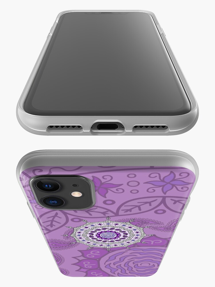 Alternate view of Mehndi Fantasy Silver iPhone Case & Cover