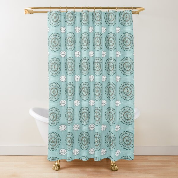 Lotus Weave Shower Curtain