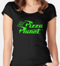 Pizza Planet Space Women's Fitted Scoop T-Shirt