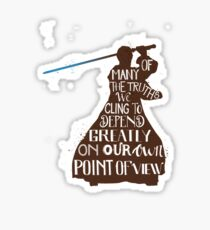Truth and point of view typography quote Sticker