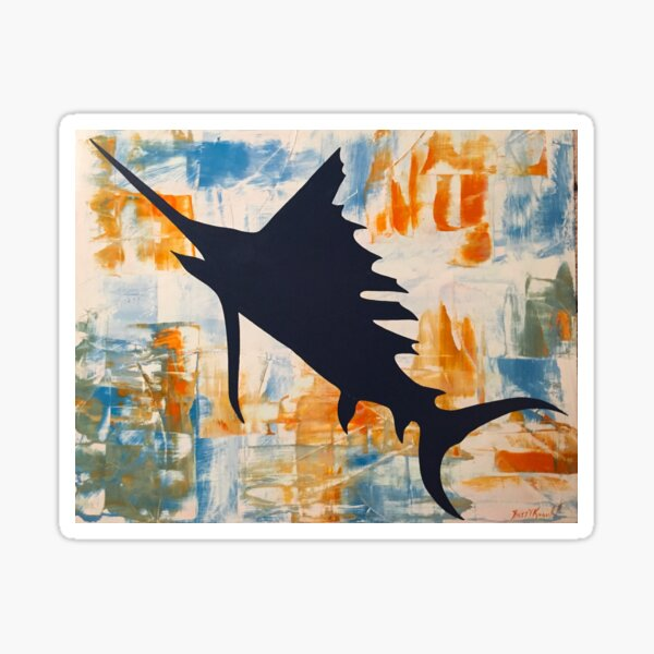 Salty Sailfish  Sticker