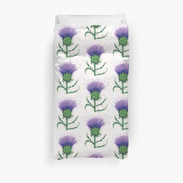 Scottish Tartan Thistle Duvet Cover