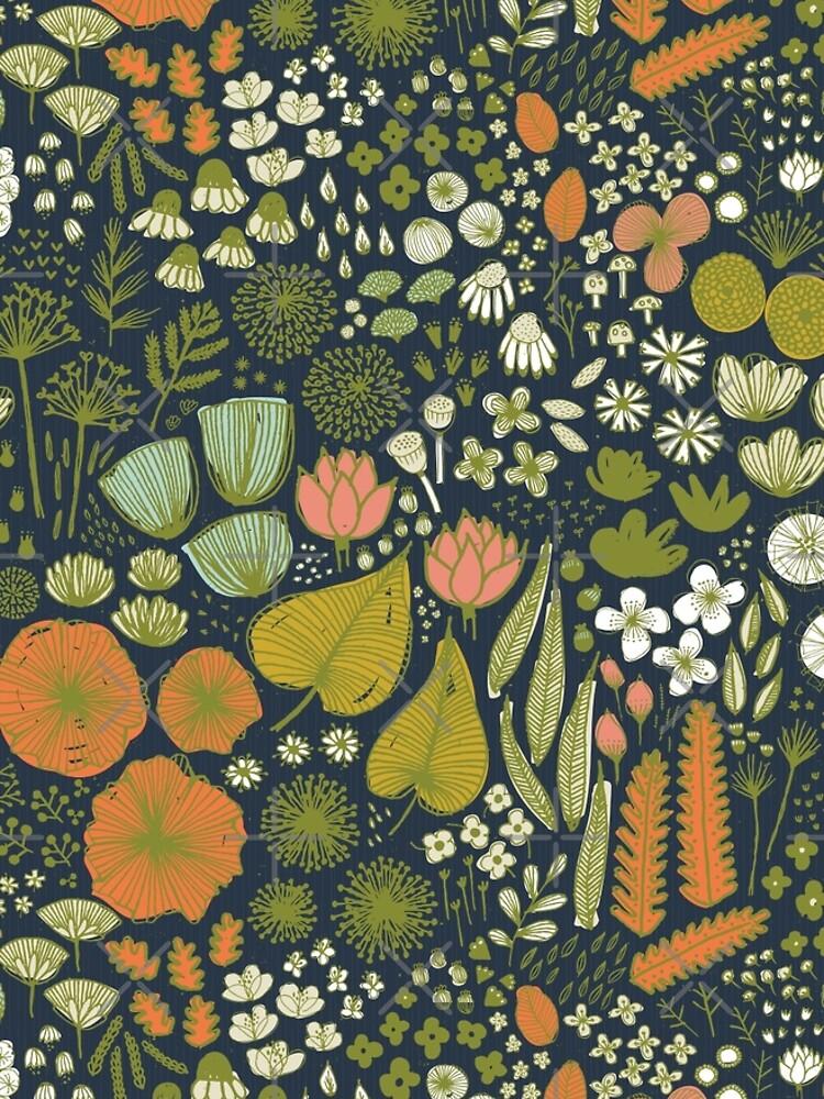 Botanisches Skizzenbuch M + M Navy von Friztin von friztin