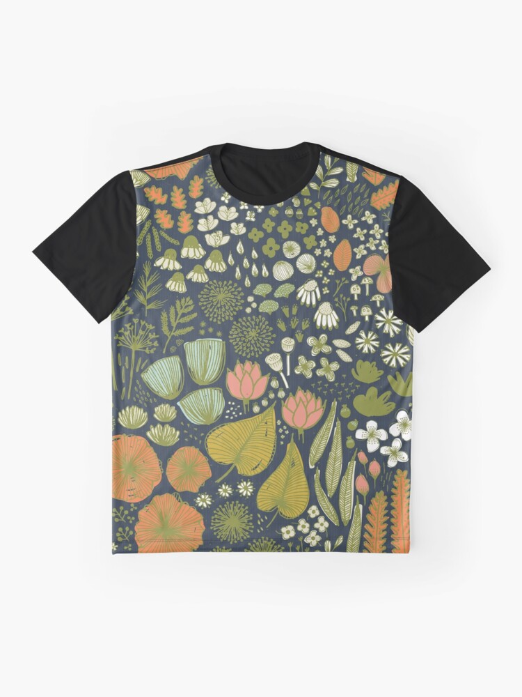 Vista alternativa de Camiseta gráfica Botanical Sketchbook M + M Navy de Friztin