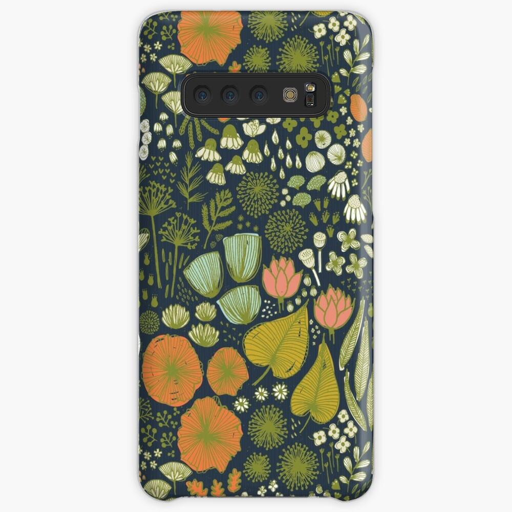 Botanical Sketchbook M + M Navy de Friztin Fundas y vinilos para Samsung Galaxy