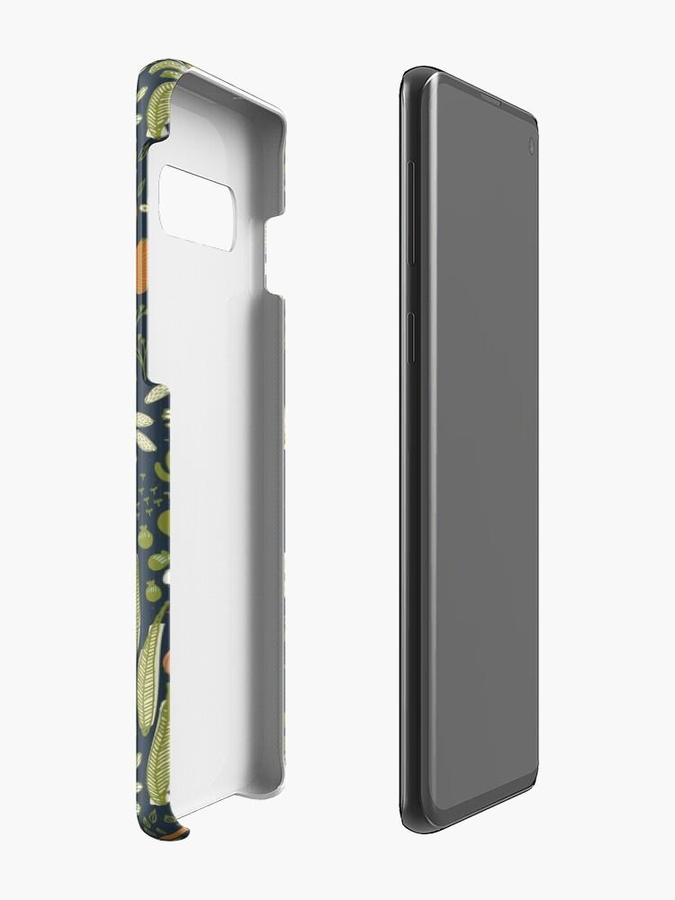 Vista alternativa de Fundas y vinilos para Samsung Galaxy Botanical Sketchbook M + M Navy de Friztin