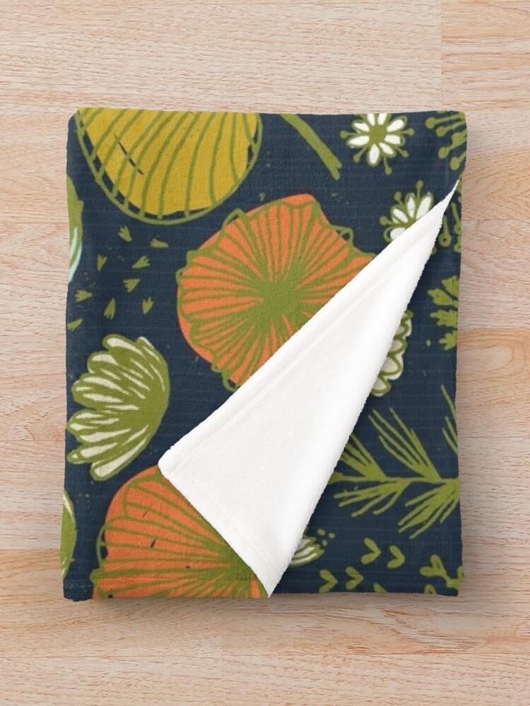 Vista alternativa de Manta Botanical Sketchbook M + M Navy de Friztin
