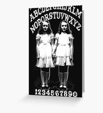 Shining Twins Ouija Greeting Card