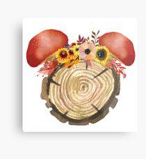 Autumn Mouse Metal Print