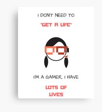 Gamer - Funny Words Canvas Print