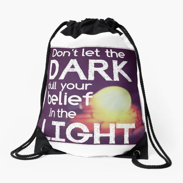Finding the light  Drawstring Bag