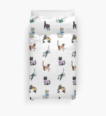 Cats in Cat Sweaters by Abi Roe Duvet Cover