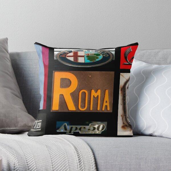 Italian Brands Throw Pillow