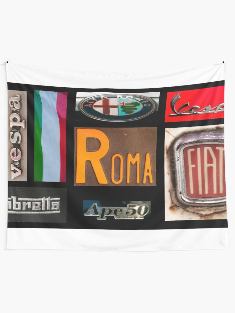 Alternate view of Italian Brands Tapestry