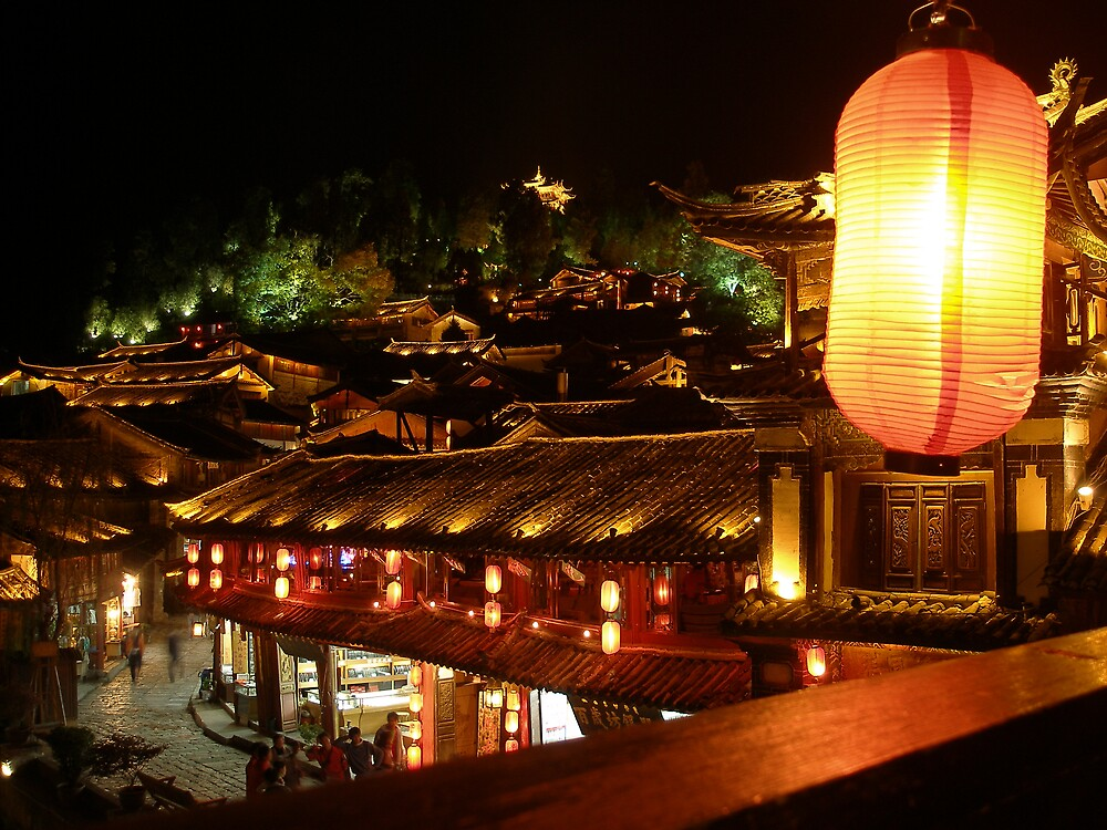 night scenery in Lijiang Old City by itourbeijing