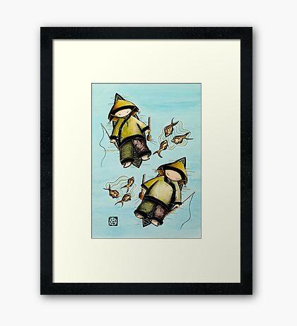 Fishing Mates Framed Print