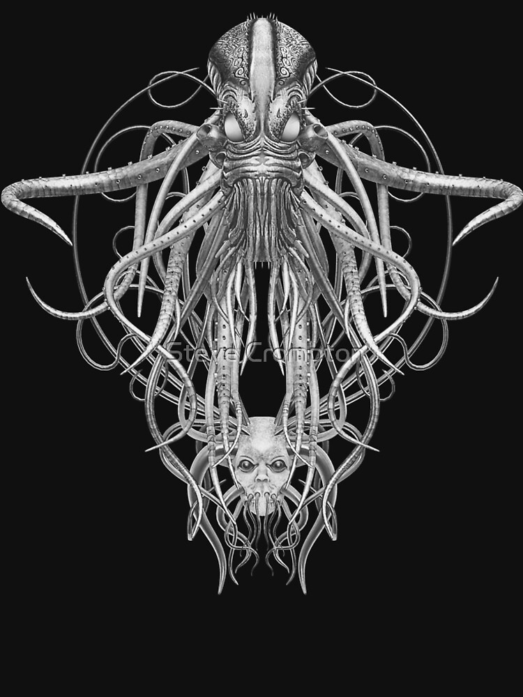 Cthulhu / Kraken in Black and White by SC001