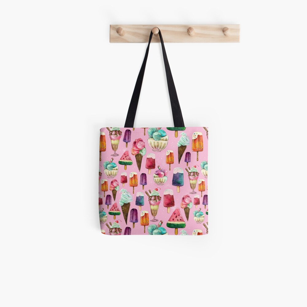 ice-cream pattern Tote Bag