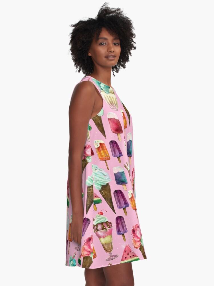 Alternate view of ice-cream pattern A-Line Dress