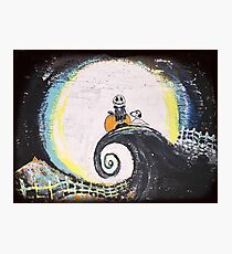 Charlie Brown meets Nightmare Before Christmas Photographic Print