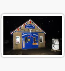 """Aidensfield Garage"" at night. Sticker"