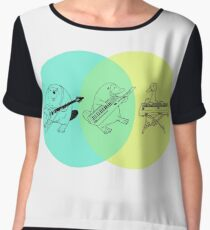 Keytar Platypus Venn Diagram Women's Chiffon Top