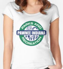 Parks and Recreation Pawnee Indiana Women's Fitted Scoop T-Shirt