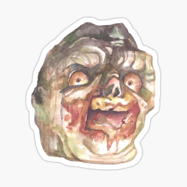 Rotten Zombie Head Sticker