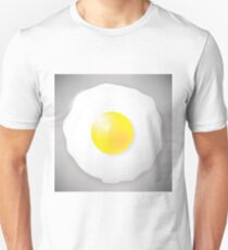 Fried Egg Icon Isolated on Grey Background. Top View. T-Shirt