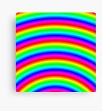 Psychedelic Neon Rainbow  Canvas Print
