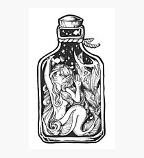 Mermaid in a Bottle Photographic Print