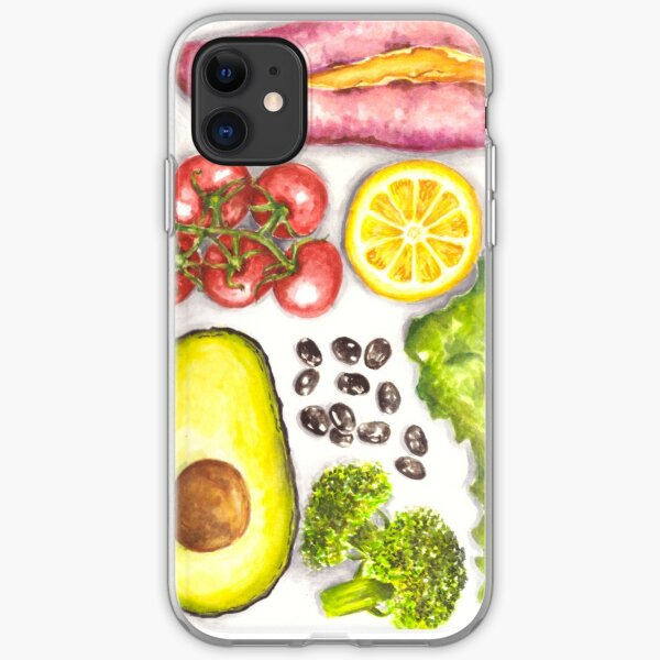 Watercolor Healthy Food  iPhone Soft Case