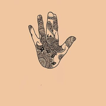 orange hand by Linehoejbjerg