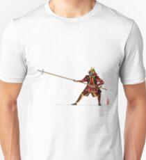 Samurai mit Yari - Japanischer Krieger mit Speer Unisex T-Shirt