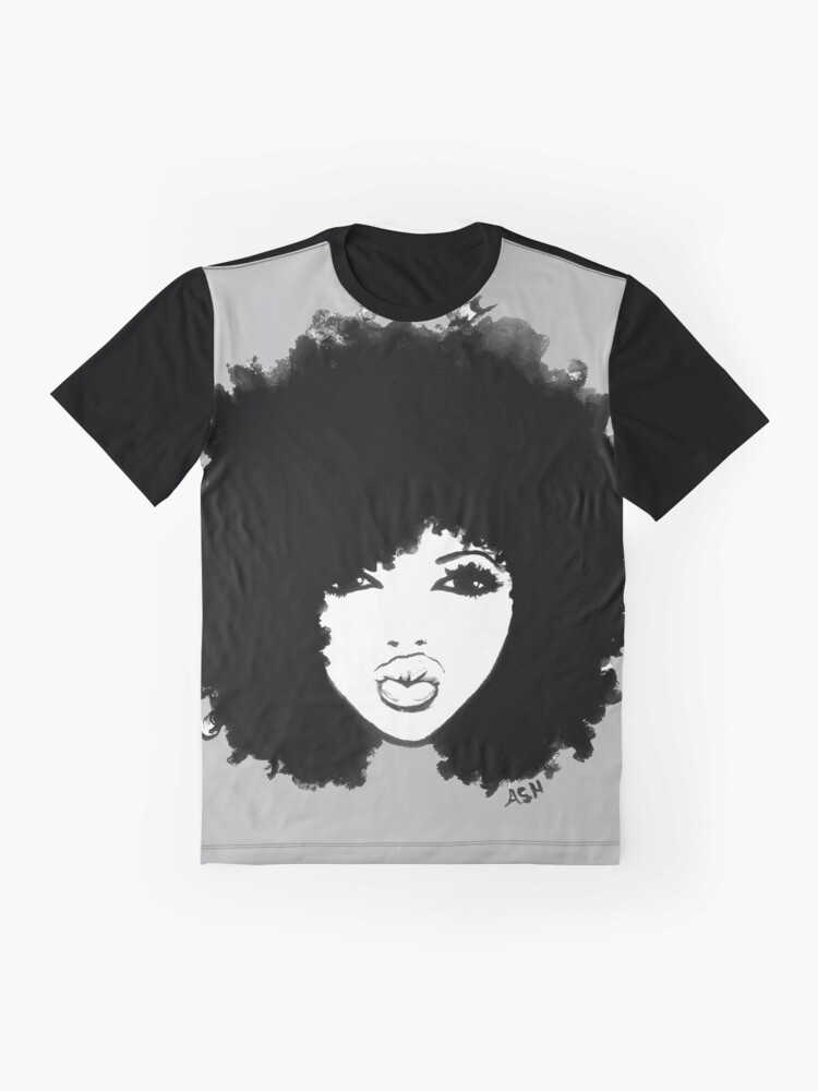 Alternate view of Natural Hair Curly Hair Autumn Black Kinky Afro Graphic T-Shirt