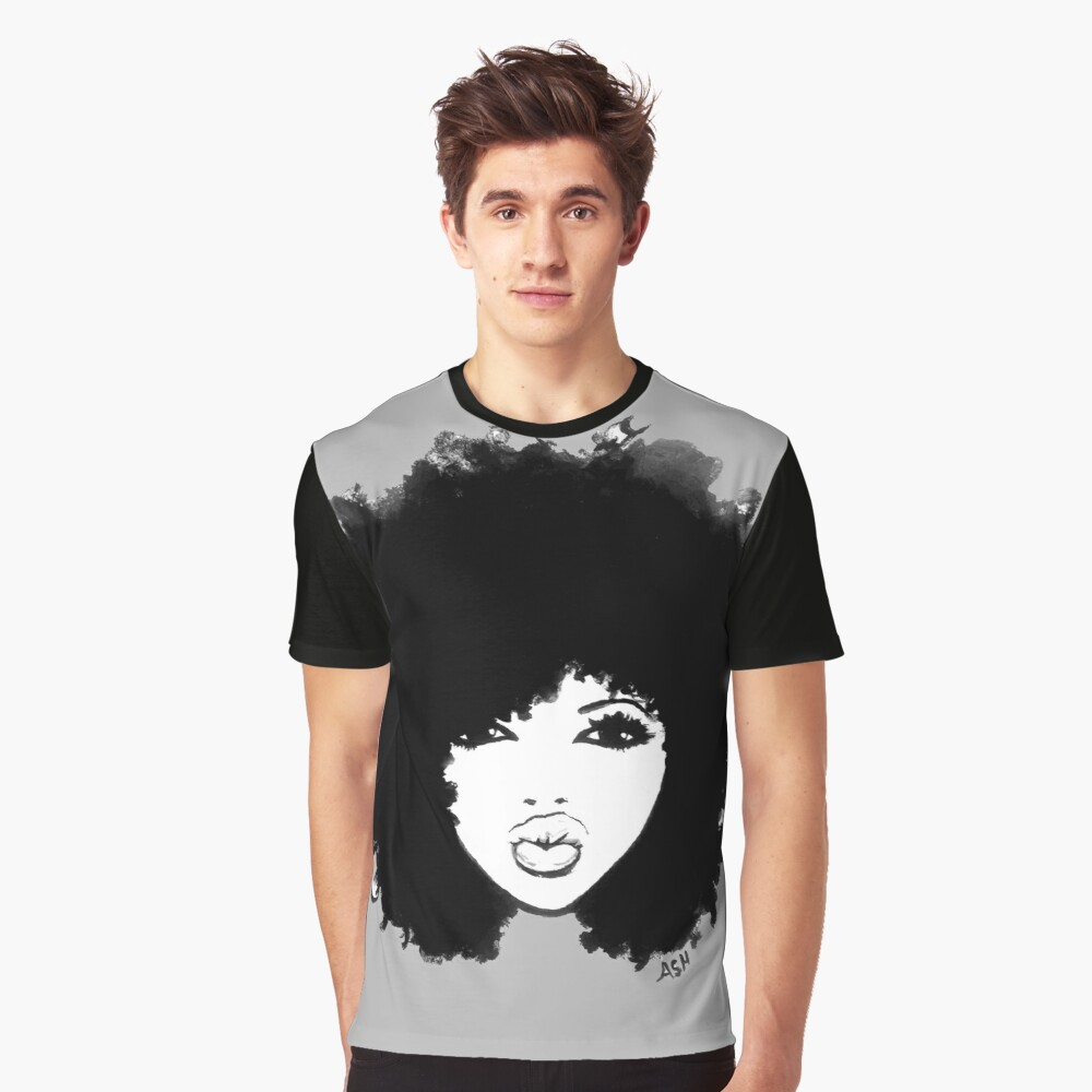 Natural Hair Curly Hair Autumn Black Kinky Afro Graphic T-Shirt