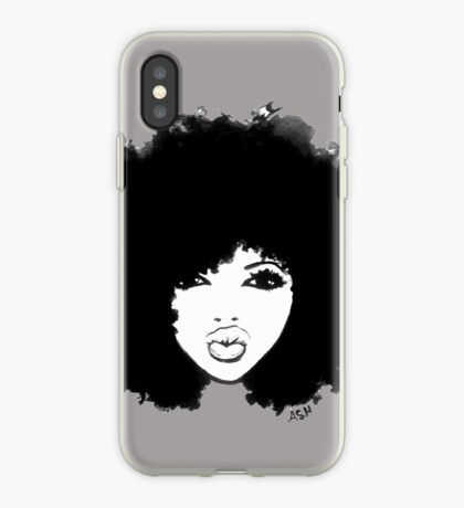 Naturhaar-gelocktes Haar Autumn Black Kinky Afro iPhone-Hülle & Cover