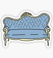 blue settee couch Sticker