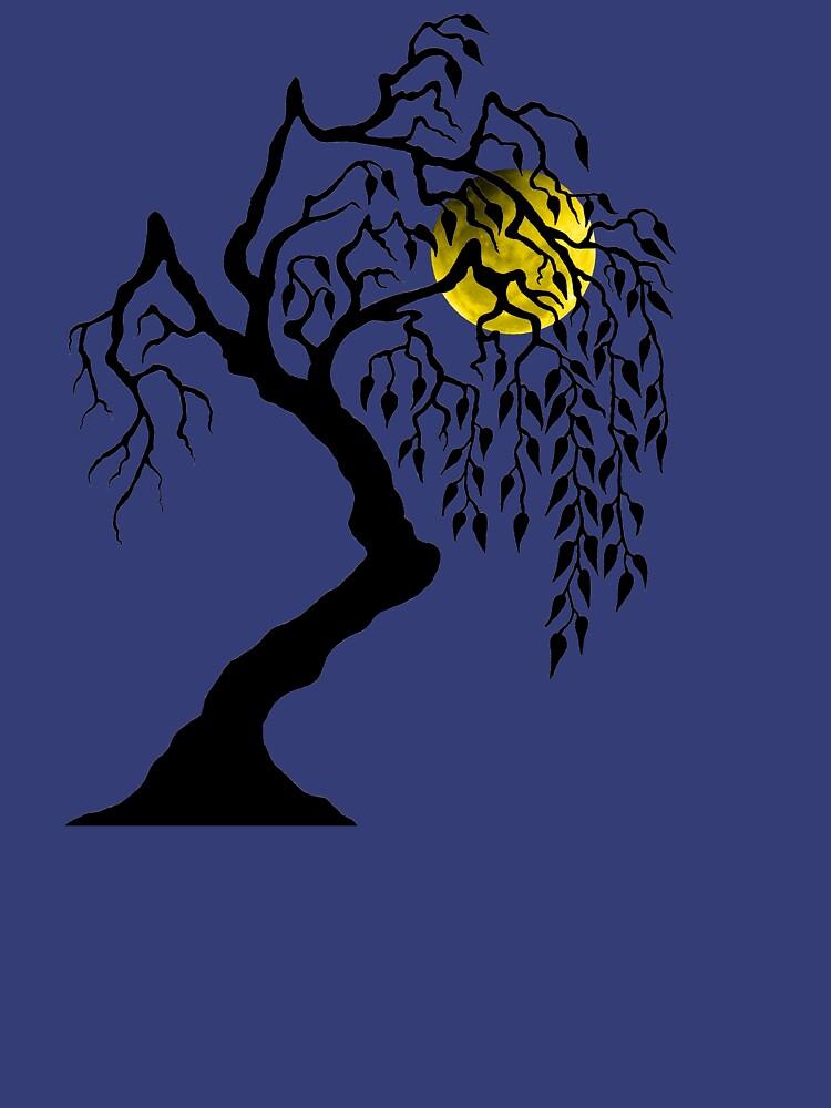 black tree yellow moon by rain-dogs
